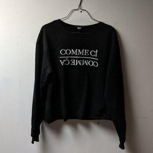 Comme ci comme ça cropped crewneck sweatshirt